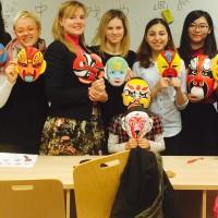 拉脱维亚大学孔子学院初级班文化讲座——中国戏曲