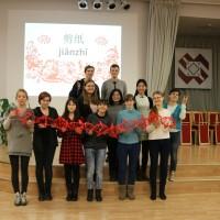 拉大孔院教师走进叶尔加瓦斯比杜拉中学汉语课堂