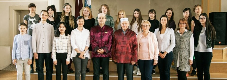 Directors from Confucius Institute at Latvia University attended certificate awarding ceremony in Confucius Classroom at Rezekne Academy of Technologies