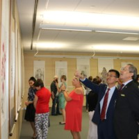 """""""Far and Close"""" Chinese Painting Exhibition Inaugurated in  National Library of Latvia"""