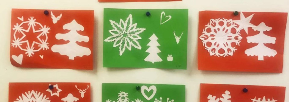 """""""Warm winter day, happy new year!""""- Children's  high-level class in Confucius Institute at the University of Latvia have traditional Chinese Papercuts class"""