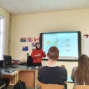 The Chinese Teacher at The Confucius Classroom of Daugavpils University Conducted An Open Class